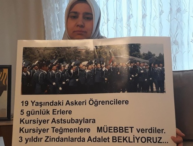 Mother of imprisoned cadet marches to AKP headquarters to demand son's release