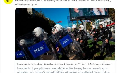 Amnesty reports: Turkey detains hundreds in crackdown on criticism of Syria incursion