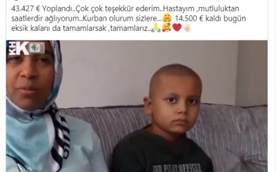 Campaign by Turkish activist raises €50,000 for purge-victim cancer patient in 24 hours