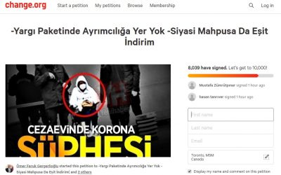 Take Action: Sign petition to call on Turkish authorities to release jailed purge-victims to stem Covid-19