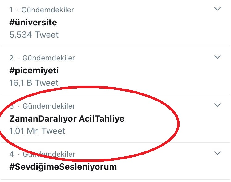 One million tweets call on Turkish authorites to release purge-victims to stem COVID-19