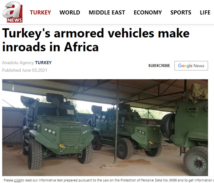 Turkish defense firm signs a contract to provide armored vehicles Kenya days after kidnapping of Gulen's nephew