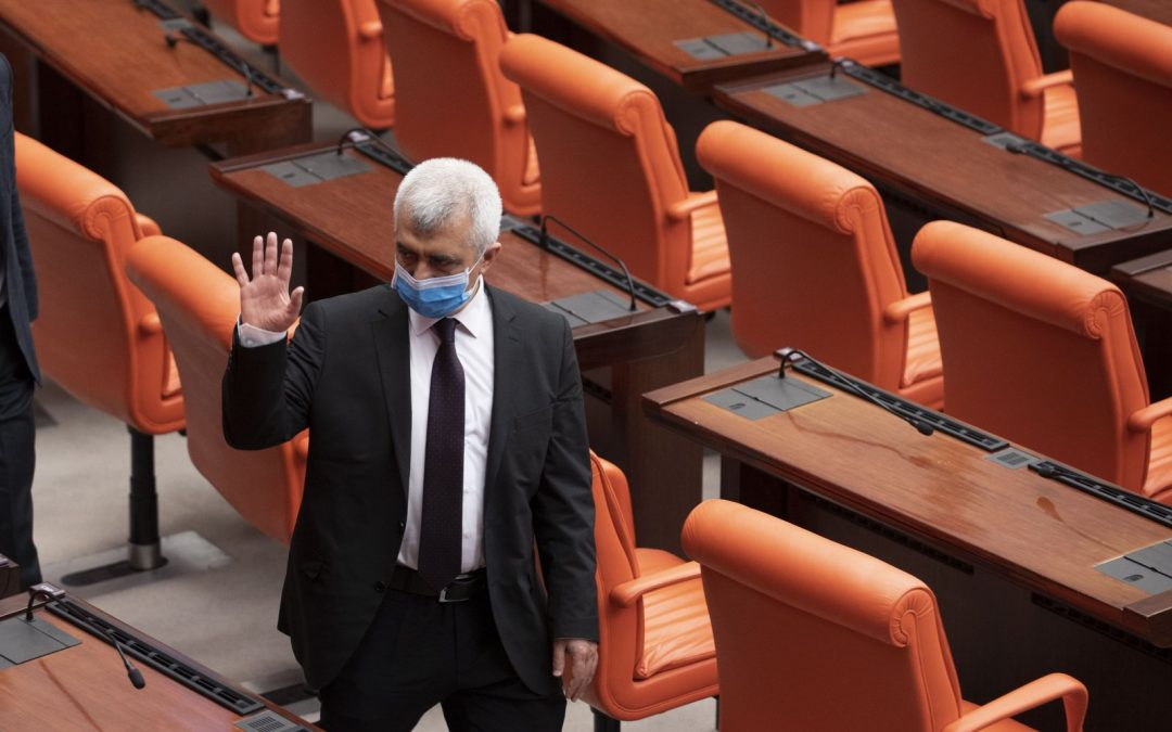 """Turkey's top court says imprisoned lawmaker's right to liberty and security """"violated"""""""